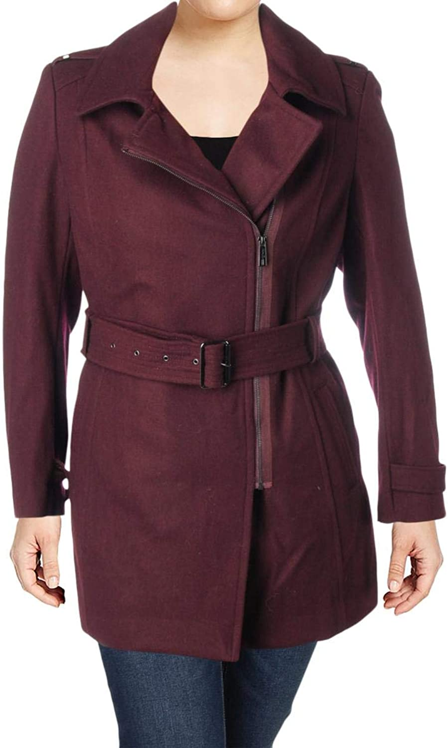 Kenneth Cole New York Womens Winter Wool Blend Trench Coat