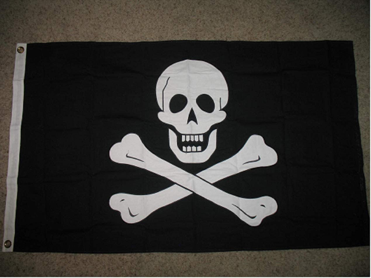 AES 3x5 Embroidered Sewn Edward Super special NEW price 100% Cotton England Pirate Flag