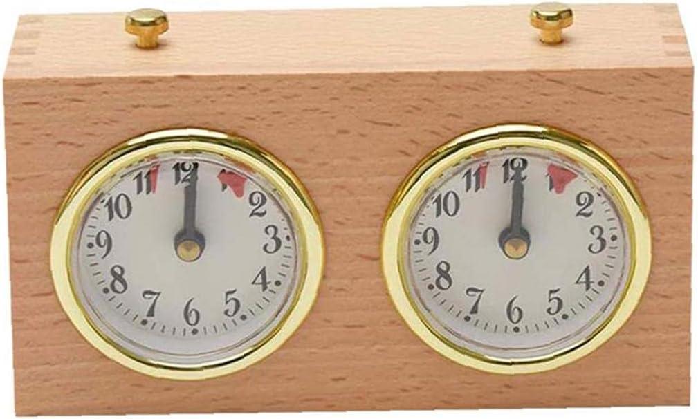 Product EElabper Chess Timer Clock Wooden Game Minneapolis Mall Mechanical Analog T