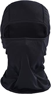 Iusun Balaclava Mask Breathable Windproof Hat Cold Weather Full Face Lightweight Adjustable Mask Motorcycle Neck Warmer for Running Cycling Skiing Outdoor Sports Men Women Unisex