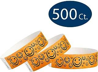 WristCo Neon Orange Smiley Face 3/4