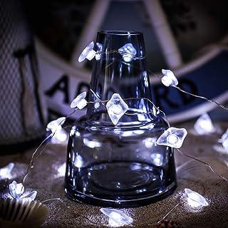 أضواء سلسلة مزخرفة من SKYFIRE، مصابيح سلسلة من زجاج البحر، 4 أقدام 40 LED تحت عنوان المحيط أضواء الشاطئ مع جهاز تحكم عن بع...