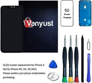 a9eb7ee87ff VANYUST reemplazo de pantalla para iPhone X, asamblea del digitizador de la  pantalla LCD táctil