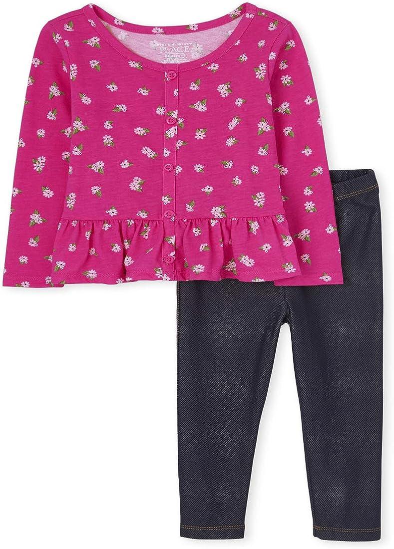 The Children's Place Baby Girls' Denim Pant Set