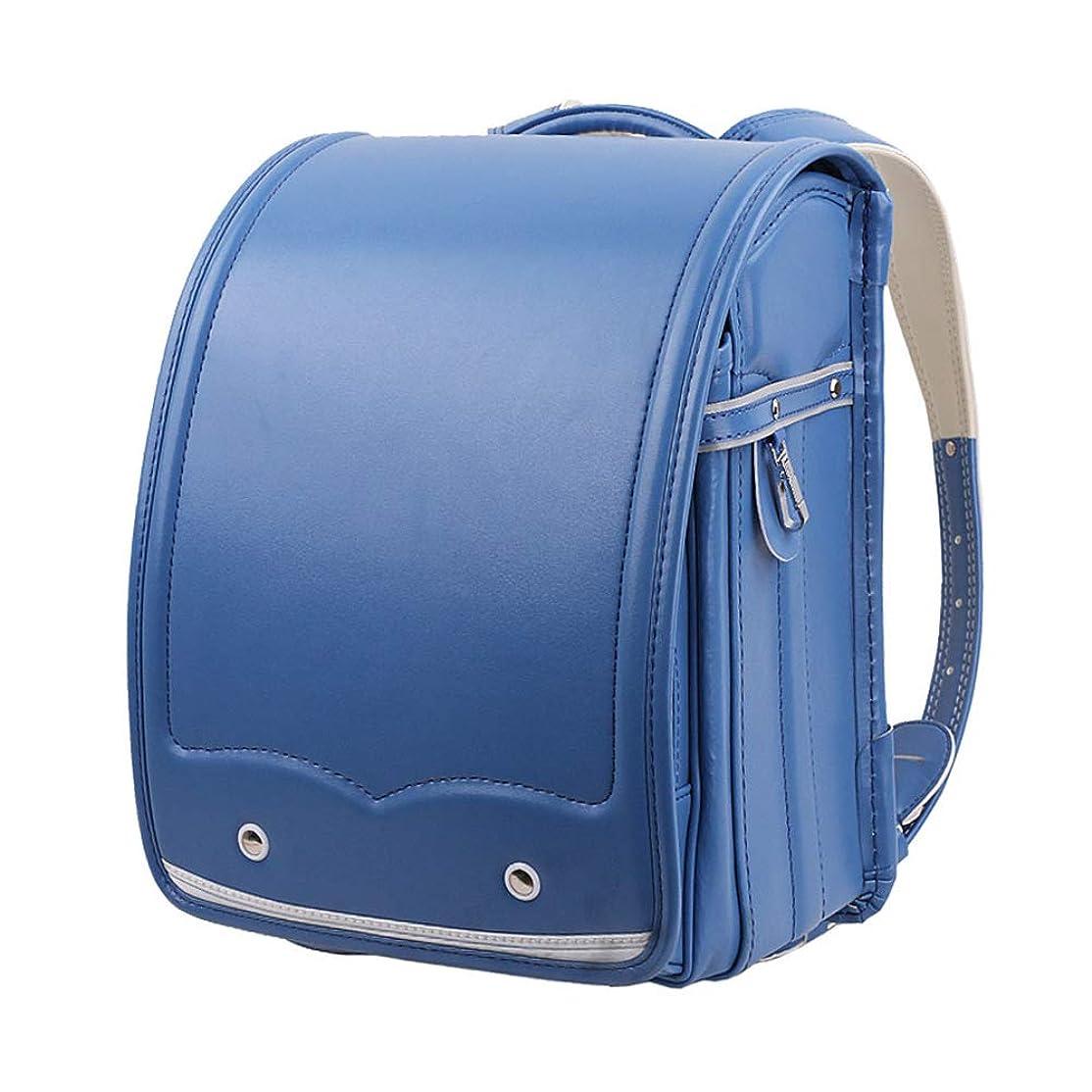 伝染病雨の天皇男の子と女の子のための子供のバックパック和風ファッションシンプルなPUレザースクールバッグ