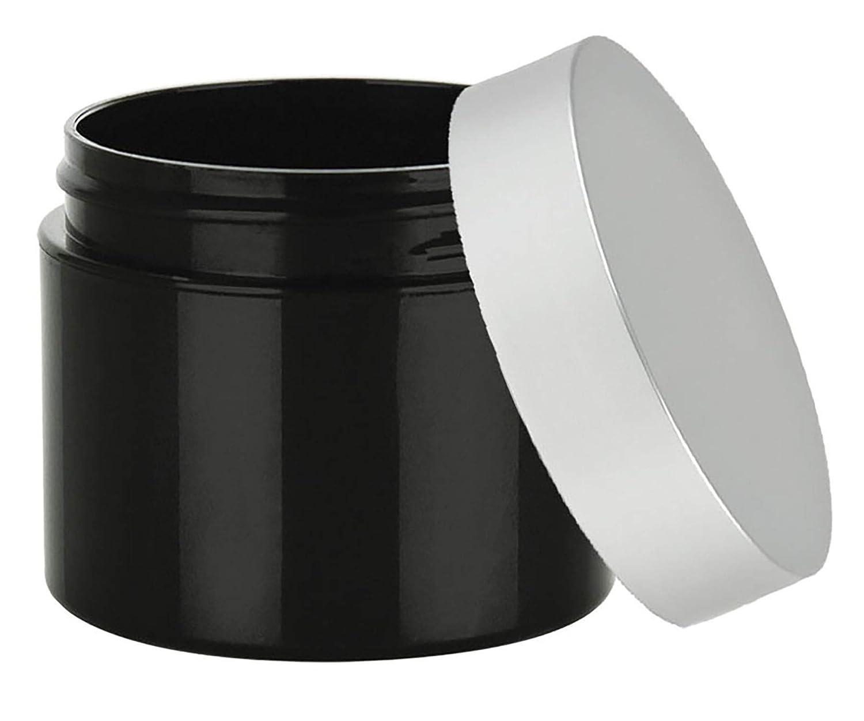 Grand Parfums 4 Oz Empty Black Matt Jar with Plastic Tall Extra Over item handling Save money ☆