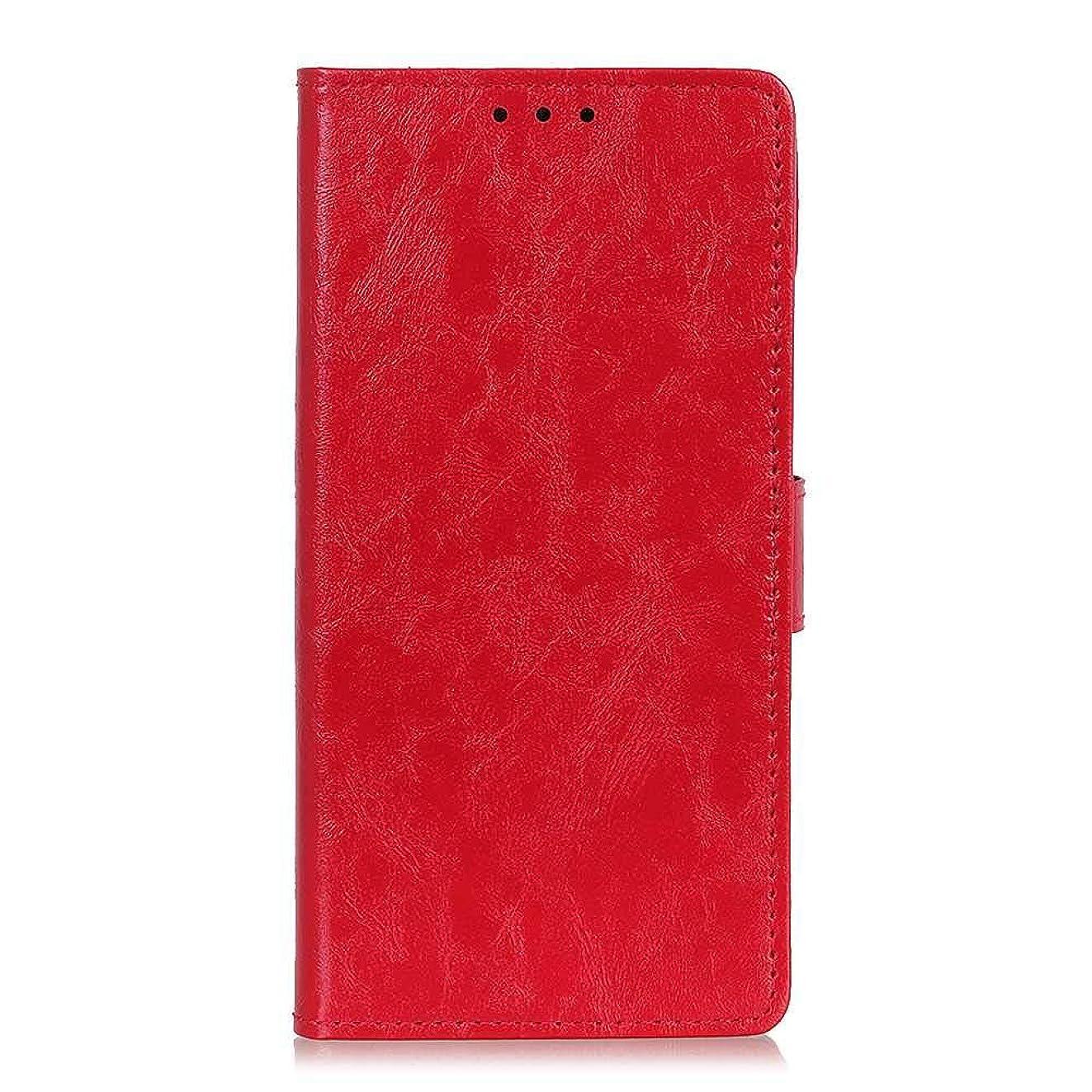 リスキーなこんにちは鮫CUNUS 高品質 新品 ケース, 柔軟 合皮レザー ケース, 超薄型 軽量 耐汚れ カード収納 カバー Xiaomi Redmi Note 4X 用, レッド