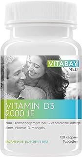 Vitamin D3 Vitabay 2000 I.E. – för mathantering av osteomalaczie – 120 vegantabletter
