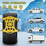 Best Tire Chains - Autmor Car Snow Chains, 6pcs Adjustable Anti Slip Review