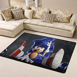 Zmacdk Sonic The Hedgehog - Alfombra para sala de estar (180 cm x 270 cm), diseño de sonic The Hedgehog Sega