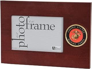 Allied Frame US Marine Corps Medallion Desktop Landscape Picture Frame - 4 x 6 Inch