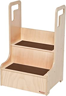Wood Designs Step up 'N Wash with Brown Treads