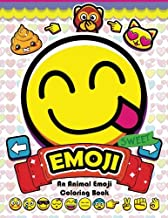 Emoji Coloring Book: Fun Emoji and Animal Designs, Collages and Funny
