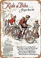 メタルサインは自転車に乗る、それはあなたの最高のパルインチレトロな装飾ティンサインバー、カフェ、アート、家の壁の装飾です