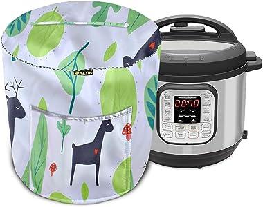 Cubierta para olla de arroz, olla a presión y olla a presión eléctrica, cubierta para electrodomésticos con bolsillo (verde,