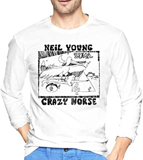 Men's Neil Young Zuma Long Sleeve Shirts Fashion Short Tee