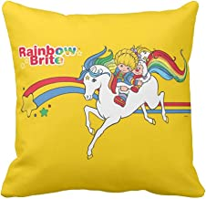 "Classic Rainbow Brite | Starlight Jumping Throw Pillow Case Cushion Cover 18"" x 18"""