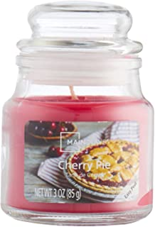 برطمان شمعة برائحة فطيرة الكريز من كاندل لايت، 85 جرام - احمر