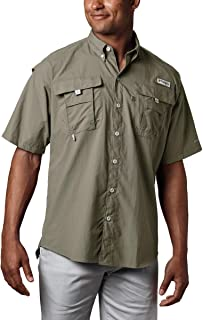 Men's PFG Bahama II Short Sleeve Shirt, Sage, XLT