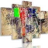 Feeby Cuadro en Lienzo Abstracto 5 Partes Moderno Piano de Cola Multicolor 100x70 cm
