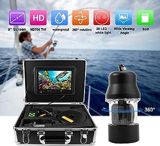 【𝐒𝐞𝐦𝐚𝐧𝐚 𝐒𝐚𝐧𝐭𝐚】 Cámara de pesca submarina, cable de 100m Cámara de video de pesca submarina de 9 pulgadas Sistem...
