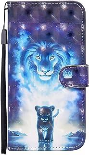 NiaCoCo Funda de piel sintética con tapa para iPhone 11 Pro MAX con ranura para tarjetas, diseño 3D con hebilla magnética+...