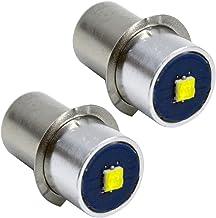Ruiandsion P13.5S Torch Gloeilamp 3-18V 3W 6000K Wit 200LM CREE LED Lamp voor Zaklamp Zaklamp Koplamp, Negatieve Aarde (Pa...