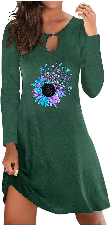 Cristophes Fall Dresses for Women Fashion Pockets T Shirt Sundress Midi Bodycon Sexy Plus Size Sleeveless Dress
