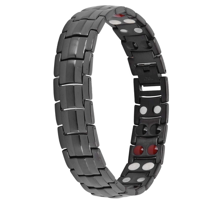 Magnetic Bracelet Reduce Fatigue for Sons Men Gift 5 ☆ very popular Large-scale sale black