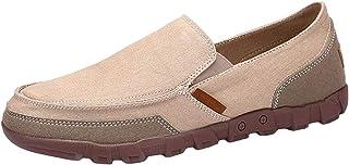 DADAWEN Men's Slip-On Loafers Flat Plimsolls Driving Walking Espadrille Canvas Deck Boat Shoes