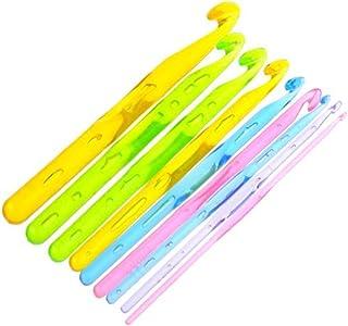 Ardisle Lot de 9 tailles différentes couleurs 15 cm et manche en plastique-Crochet Aiguilles à tricoter 3–12 mm