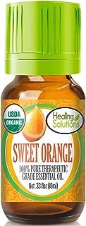 Organic Sweet Orange Essential Oil (100% Pure - USDA Certified Organic) Best Therapeutic Grade Essential Oil - 10ml