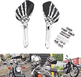 EBTOOLS Espejos retrovisores de motocicleta para Shadow 600//750//1100 ACE 2 piezas de motocicleta negro mini espejo lateral ovalado
