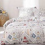 Cupocupa Bettwäsche 200x200 cm Bettbezug Set mit Böhmisch Muster,2 teilig microfaser Bettwäsche warme& atmungsaktive Bettbezüge mit Reißverschluss und 2 mal 80x80cm Kissenbezug(wiki-200200-3teilig
