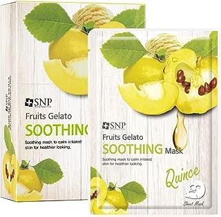 SNP - Fruits Gelato Soothing Korean Face Sheet Mask - 10 Sheet Pack