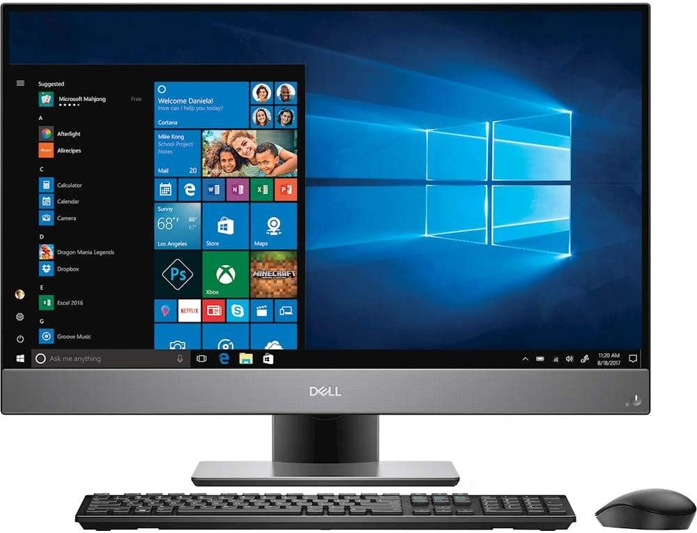 Dell OptiPlex 24 7470 All-in-One 2TB SSD 32GB RAM (Intel 9th Generation Processor with Turbo Boost to 4.40GHz, 32 GB RAM, 2 TB SSD, 24-inch FullHD IPS, Win 10 Pro) PC Computer Desktop