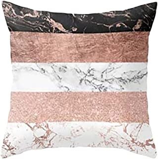 RJDJ Pillow Case,Geometric Print Throw Cushion Cover Soft Square Pillowcase Home Decor Sofa Decorative 18 x 18 Inch