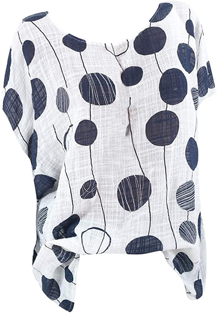 Women Deluxe Shirts 25% OFF Polka Dot Blouse Tops Shirt Summer Pullover Lo