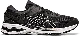 ASICS Men's Gel-Kayano 26 (2E) Running Shoes, 11.5M, Black/White