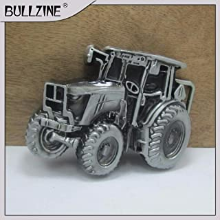 Buckes - The Wholesale Tractor Belt Buckle with Pewter Finish FP-03630 for 4cm Width on Belt