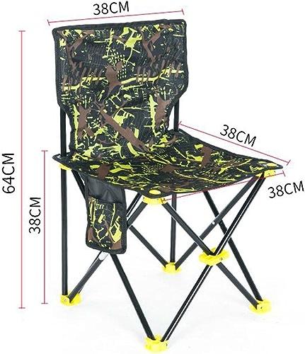 GHM Chaise de méditation Chaise de pêche Chaise Pliante en Plein air portable Camping Plage Peinture Croquis Chaise (Couleur   C, Taille   W38cmH64cm)