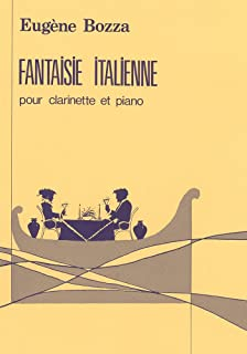 ボザ : イタリア幻想曲 (クラリネット、ピアノ) ルデュック出版