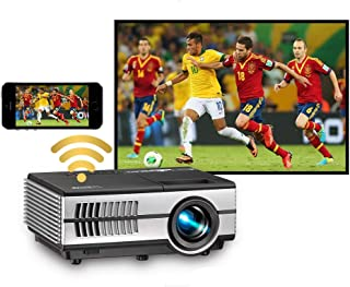Mini Projector with Wifi Bluetooth, Wireless Portable Projector for Home Theather Gaming Projector compatible with Nintend...