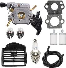 Venseri C1M-EL37B 506450401 Carburetor with Fuel Filter/Line Air Filter Tune Up Kit for Husqvarna 445 445E 450 450E Gas Chainsaw