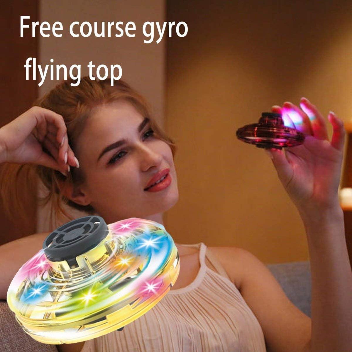 Greatangle-UK Flynova Mini UFO Route a/érienne Gratuite Gyroscope Volant giratoire Rc UAV d/écompression Jouets Cadeaux pour Enfants Or