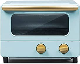 Sdesign Horno eléctrico freír y Hornear Integrada de Hogares Hornear pequeño Multi-función automática 8L Mini Horno, Multi Función Cocinar & Grill, Control de Temperatura Ajustable (Color : Blue)