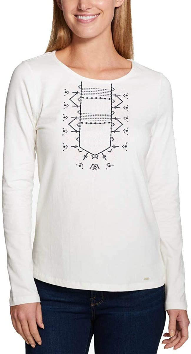 Tommy Hilfiger Womens Embroidered Basic T-Shirt