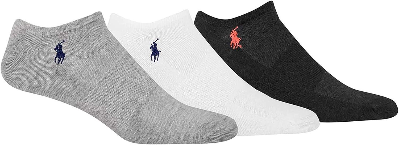 Polo Ralph Lauren Men's 3-Pack Classic Ultra-Light Super Low Cut Socks