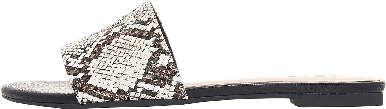 Rohb by Joyce Azria Mila Women's Slide On Summer Sandal Casual/Occasion Flat Walking Shoe Slip On
