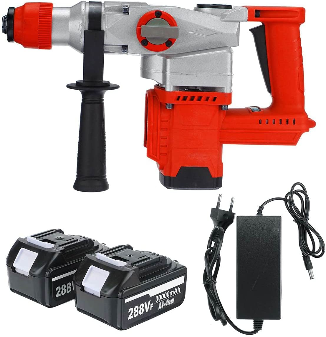 San Diego Mall Trust DACHENZI 3 In 1 288V Cordless Rechargeable Brushless Hamm Rotary